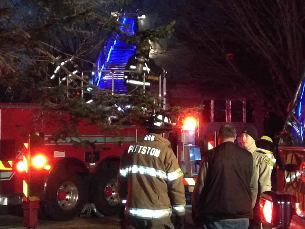 Firefighters from several area towns responded to a report of a house fire Nov. 25 on Old Brunswick Road in Gardiner.