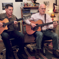 Gary Coons, left, and guitar instructor Steve Fotter will be among many musicians to perform for the annual Christmas concert to benefit the First Choice Pregnancy Center and Cassidy Charette Scholarship fund, to be held this Saturday at the Williamson Fine Arts Center in Fairfield.
