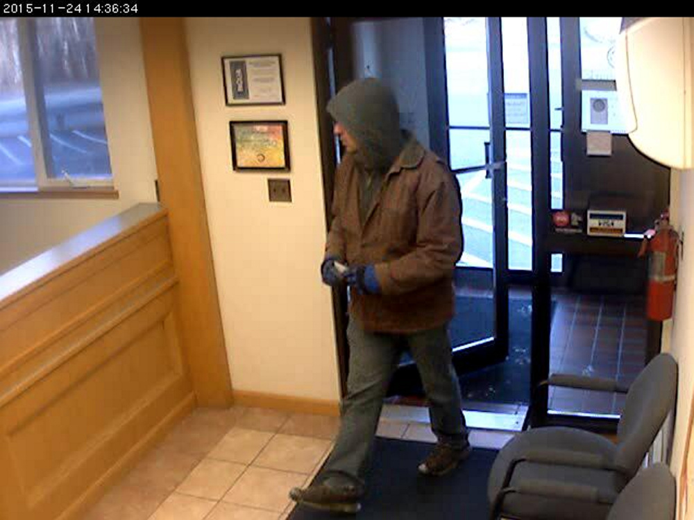 Police say this man on Nov. 24th entered the Trademark Federal Credit Union at 44 Edison Drive and demanded money from a teller.