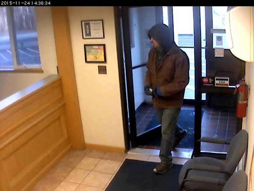 Augusta police continue to look for the man who robbed the Trademark Federal Credit Union at 44 Edison Drive last week.