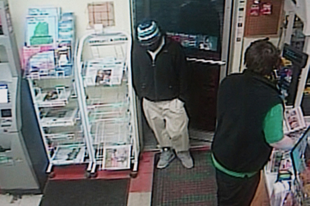 Augusta police are looking for a man who held up the Big Apple at 36 Stone St. early Monday morning.