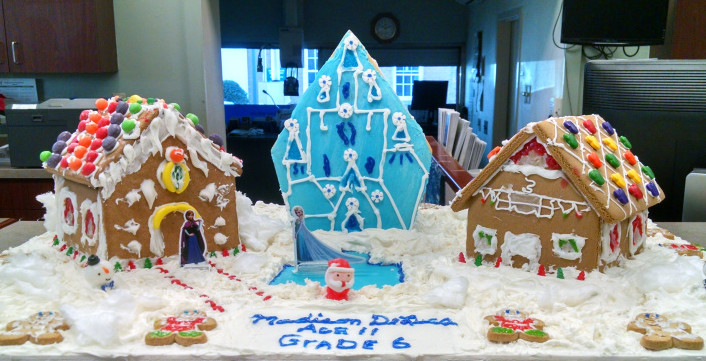 Madison DeLuca's gingerbread house submission winning first place in the youth category.