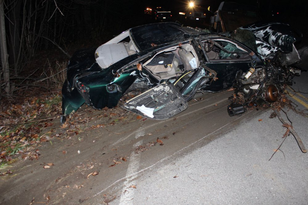 This car crash on Plains Road in Readfield in November 2014 killed Alex Cruz, 26, of Connecticut and seriously injured another man. On Thursday, the driver of the car, Thorr Dennis Ellis, 21, of Gardiner, pleaded no contest to manslaughter.
