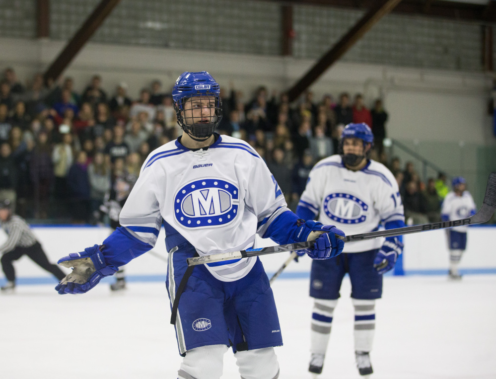 Freshman forward Nick O'Connor scored his team-leading third goal of the season for Colby on Friday night.