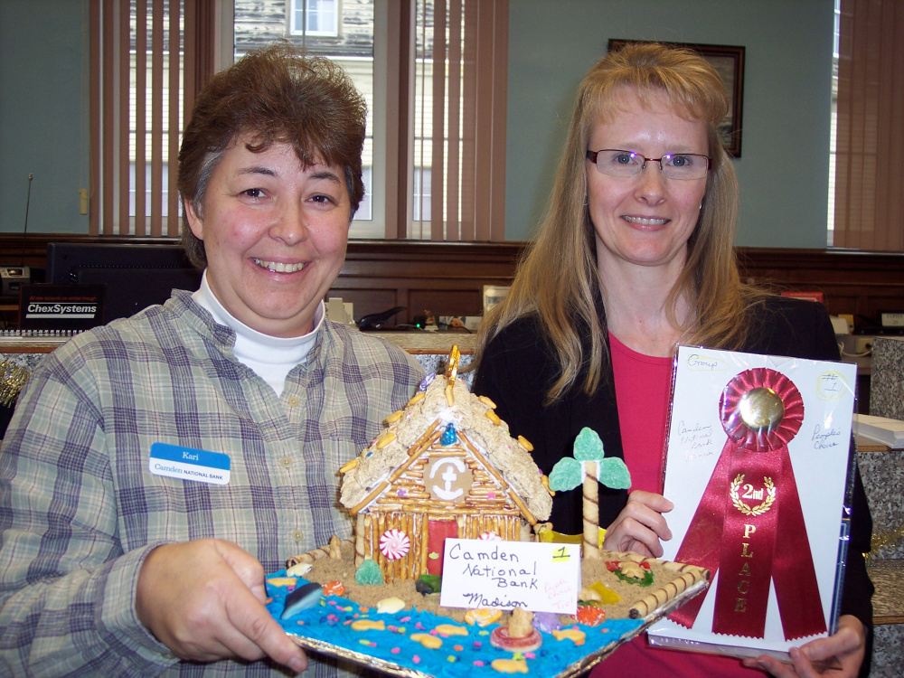 Camden National Bank's Kara Wacome and Mary Knight.