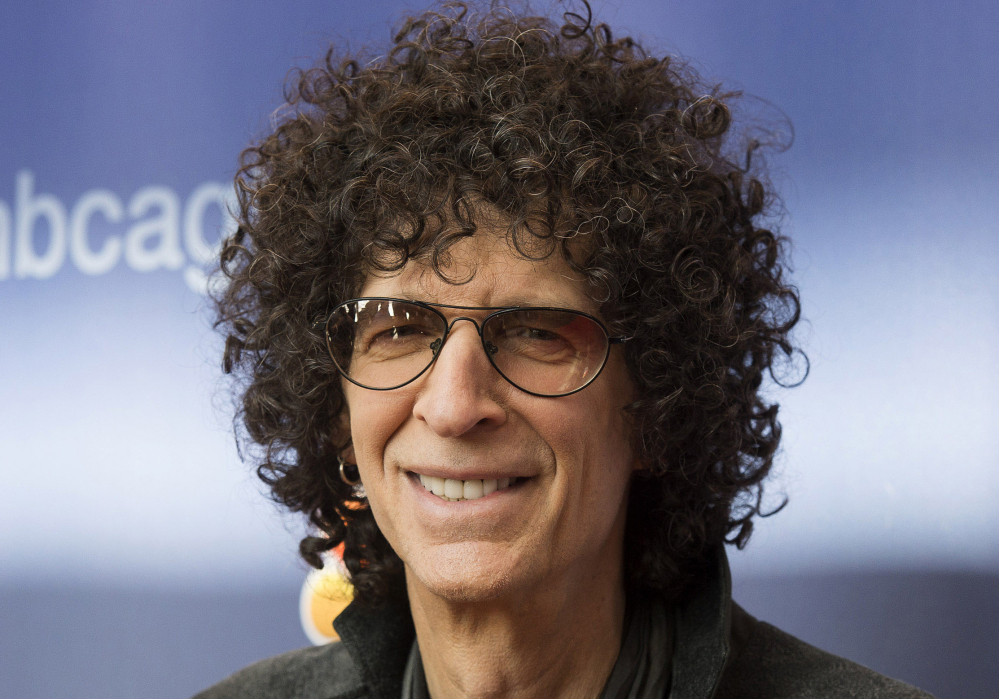 """In this March 2, 2015, file photo, Howard Stern arrives at the """"America's Got Talent"""" Season 10 red carpet kickoff at the New Jersey Performing Arts Center in Newark, N.J."""