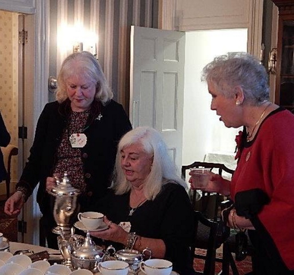 From left, are Rose Leavitt and Coral Garrison, both Kennebec Valley Garden Club members, and Suzanne Bushnell, president of The Garden Club Federation of Maine.