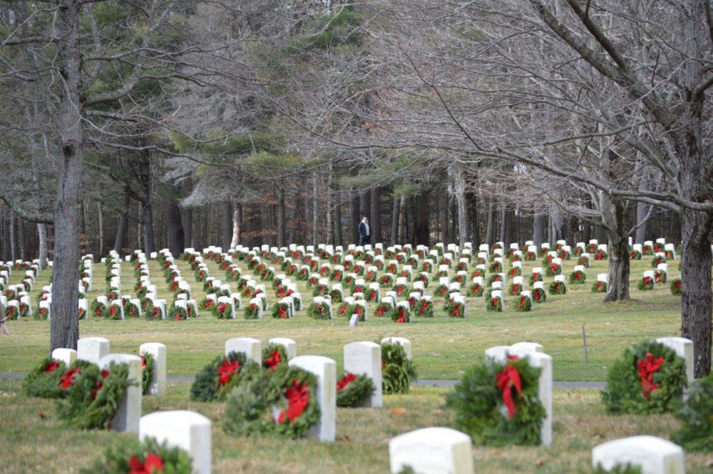 Togus VA in Augusta after the Wreaths Across America event.