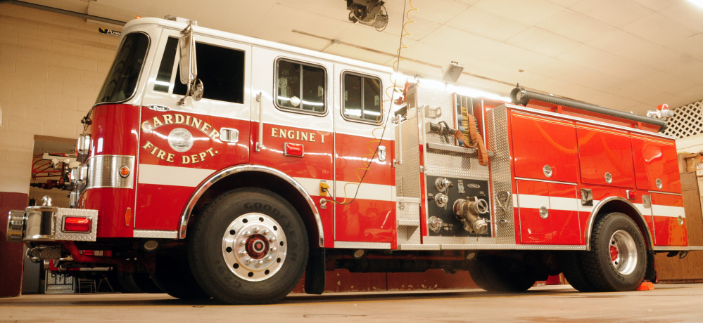 Gardiner Engine 1 is seen at the Gardiner Fire Station on Friday. City officials say the old engine is failing.
