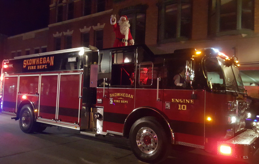 skowhegan s new firetruck comes just in time for christmas