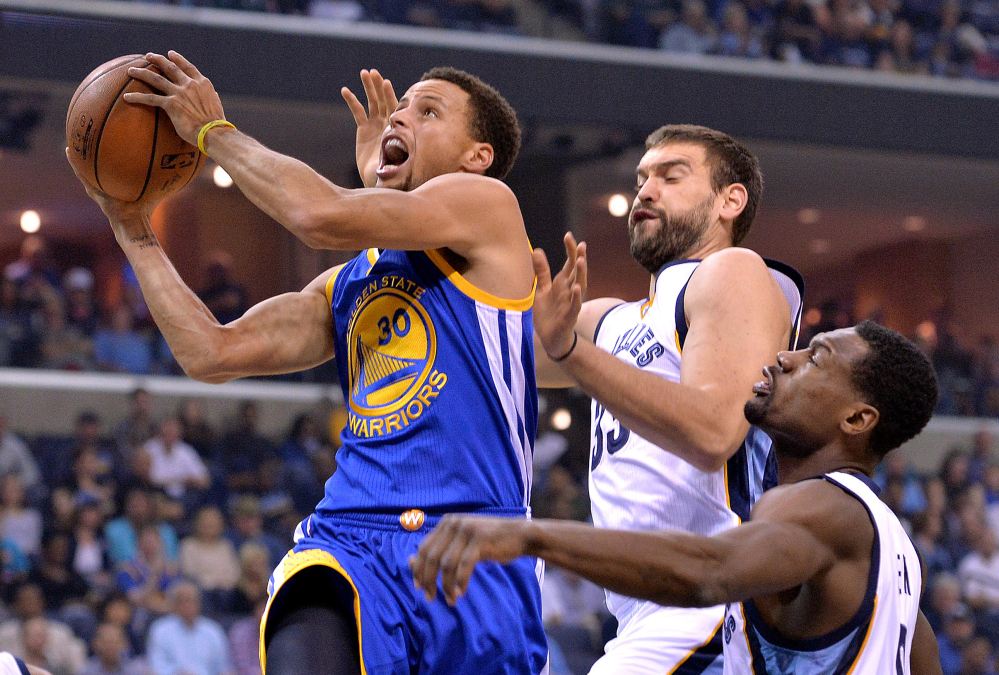 Golden State Warriors guard Stephen Curry was named The Associated Press 2015 Male Athlete of the Year on Saturday.