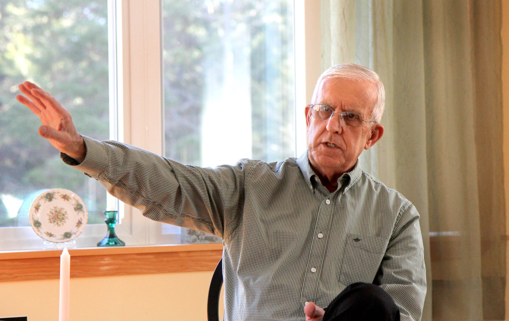At a his home in Chelsea, Vietnam veteran Ron Brodeur, 70, recounts some of his missions as a member of the Air Force's 20th Special Operations Squadron, known as the Green Hornets.