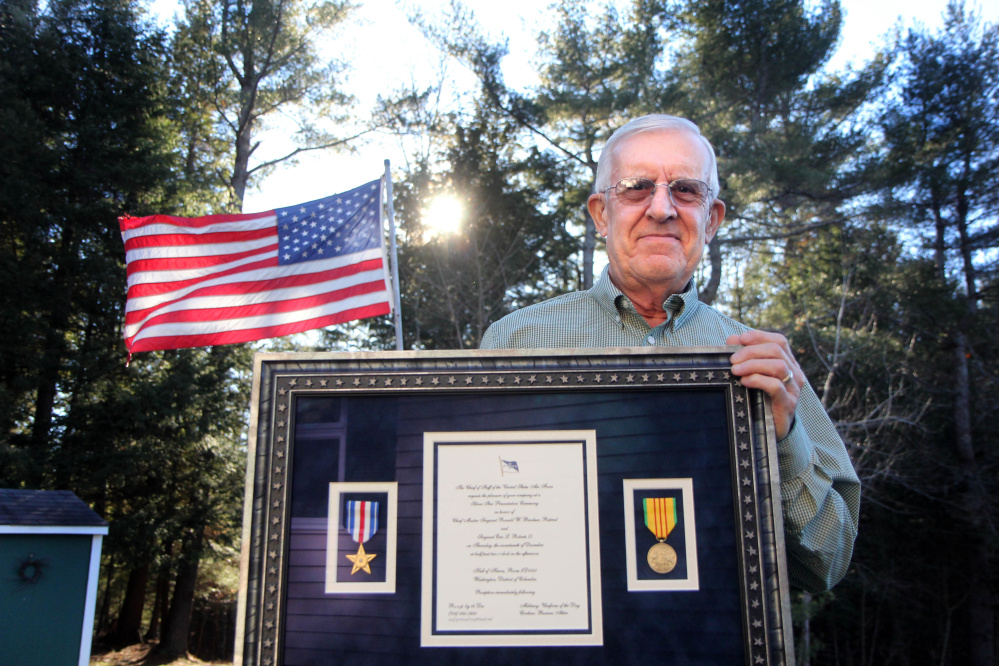 Vietnam veteran Ron Brodeur, 70, of Chelsea was recently awarded the Silver Star during a ceremony at the Pentagon for his actions on Feb. 20, 1969 as a member the Air Force's 20th Special Operations Squadron, known as the Green Hornets.