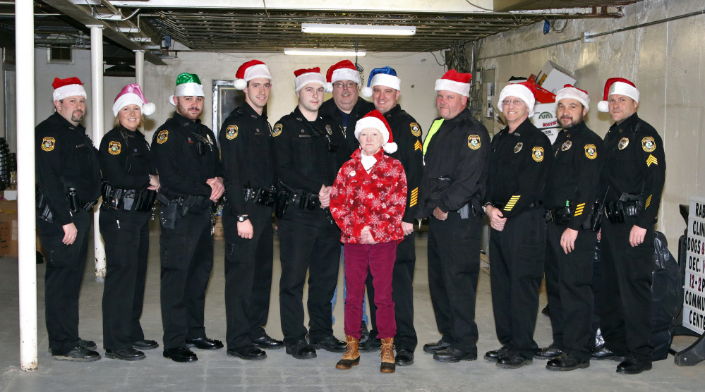 Front from left, is Dispatcher Jeanne Kempers; and back from left, are Officers Casey Dugas, Shanna Blodgett, Jordan Brooks, Blake Wilder and Patrick Mank, Chief Tom Gould, Sgt. Matthew Bard, Officers Todd Genest and Billy Beaulieu, Capt. Paul St Amand and Sgt. Matthew Wilcox.