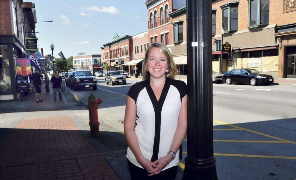 Executive Director of Main Street Skowhegan Kristina Cannon in September on Main Street. The nonprofit organization is expanding its reach beyond downtown.