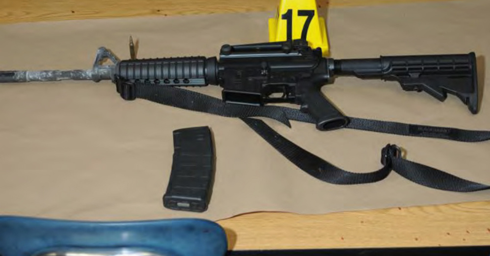 A Bushmaster rifle that belonged to Sandy Hook Elementary school gunman Adam Lanza was seized by police in Newtown, Connecticut, after the tragedy in December 2012.
