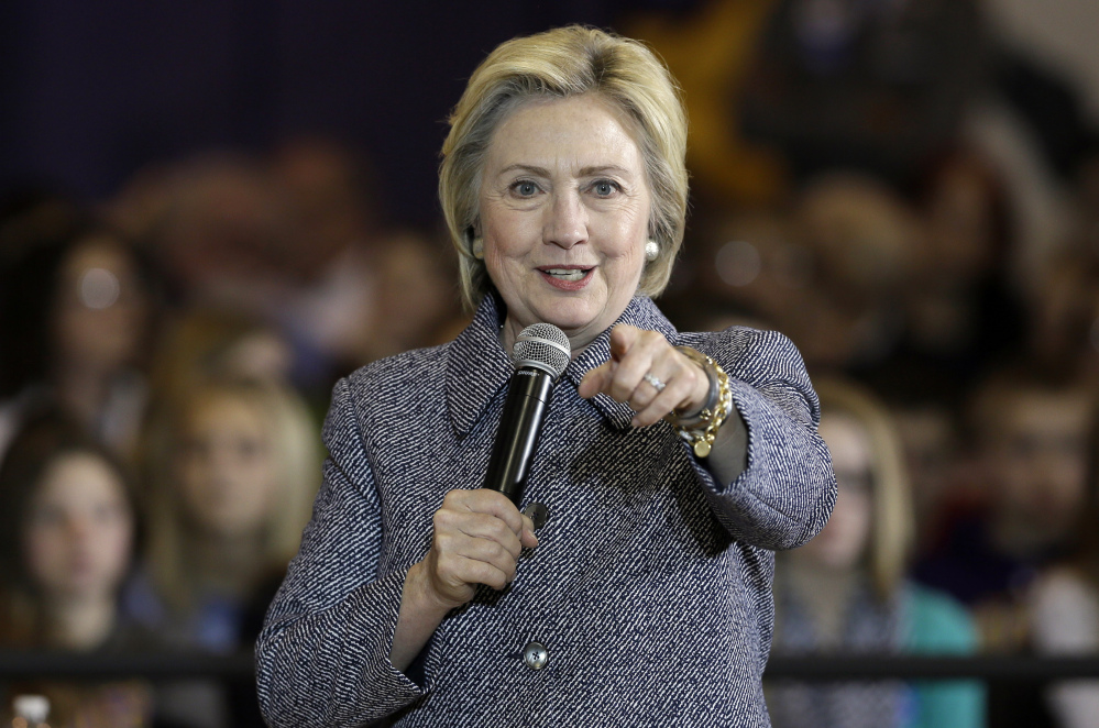 """Hillary Clinton took a shot at Trump during a town hall meeting Tuesday in Keota, Iowa, saying """"it's important to stand up to bullies wherever we are and why we shouldn't let anybody bully his way into the presidency."""""""