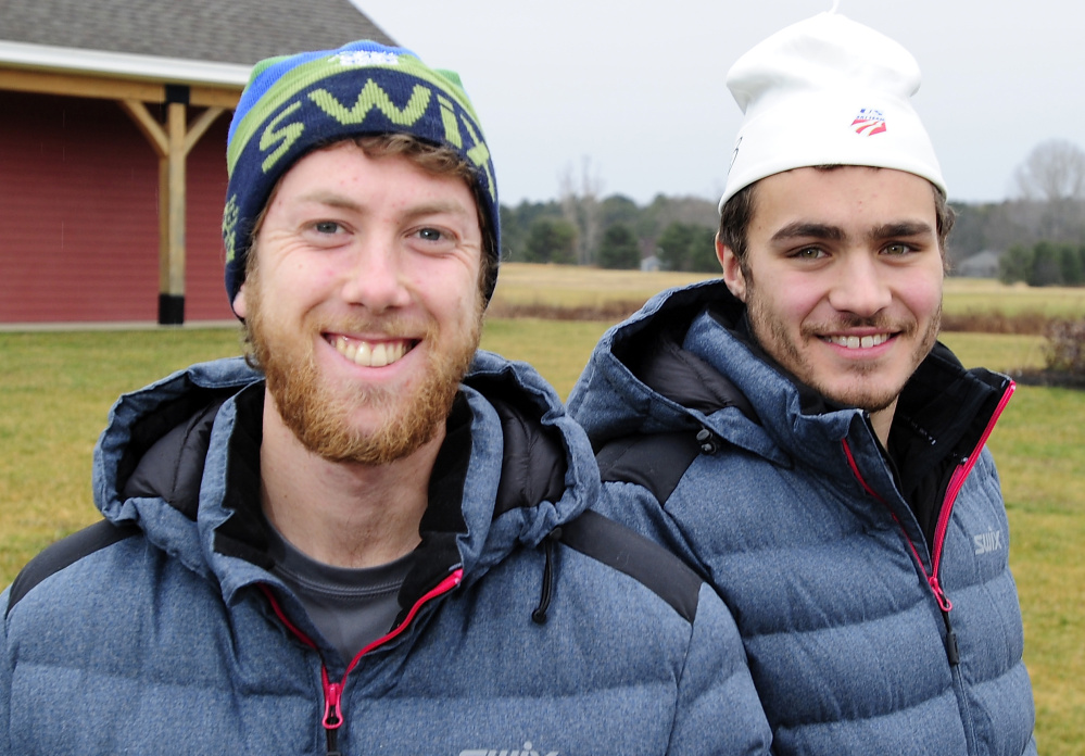 A three-month tour of European cross-country ski marathons, including a 90-kilometer race in Sweden, awaits Jackson Bloch, left, and Tyler DeAngelis.