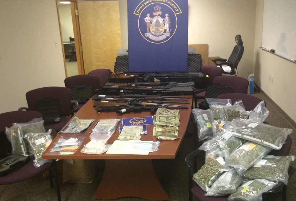 Police say they seized 400 grams of heroin Monday in Orland. On Tuesday, they announced the arrests of 15 people in connection with a drug ring in Oxford County. Even before those arrests, the MDEA had arrested more people on heroin charges in the first 11 months of 2015 than in all of 2014.  Photo courtesy Maine Department of Public Safety
