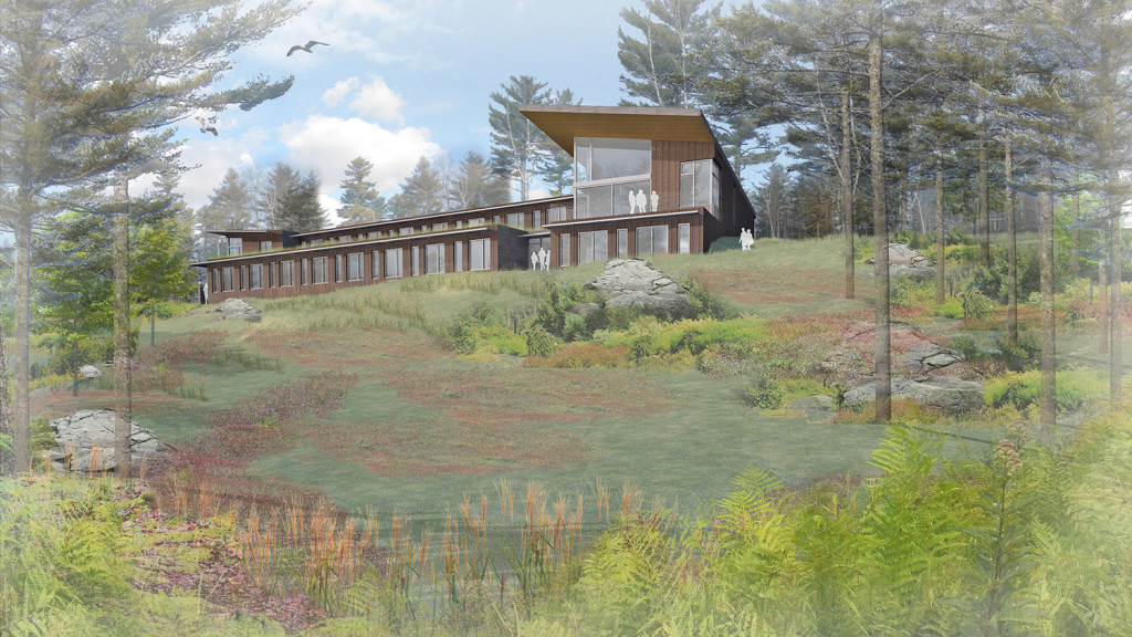 An artist's rendering of the new Bigelow Laboratory for Ocean Sciences student and visiting scientist residence.