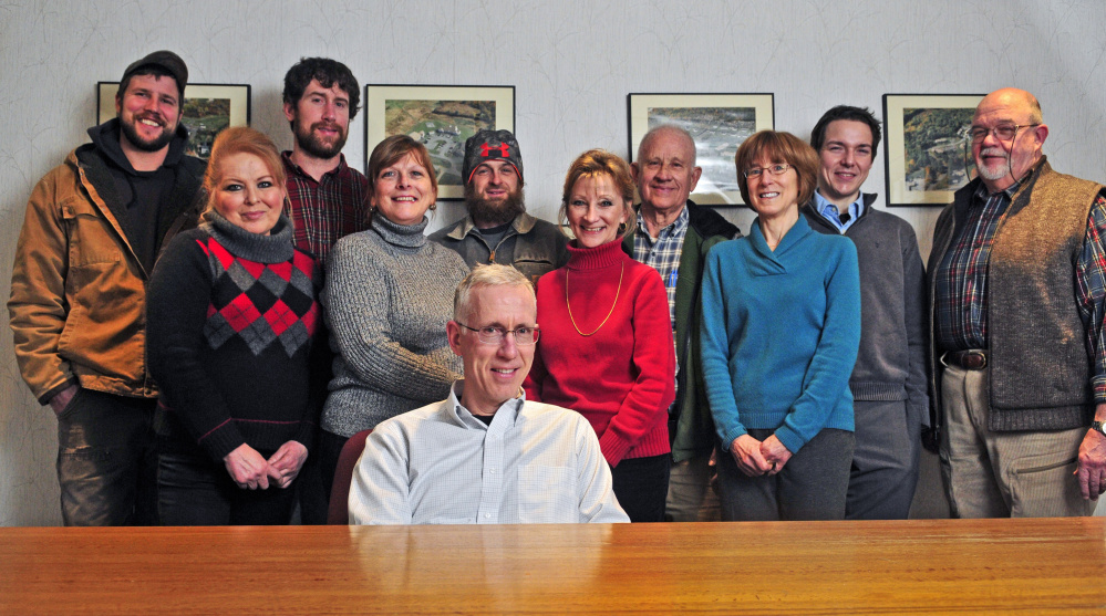 Todd Mattson, front, and some of the staff of C.B. Mattson Inc., shown here in a photo taken last week, will be honored Jan. 22 as the Kennebec Valley Chamber of Commerce's 2016 Large Business of the Year.