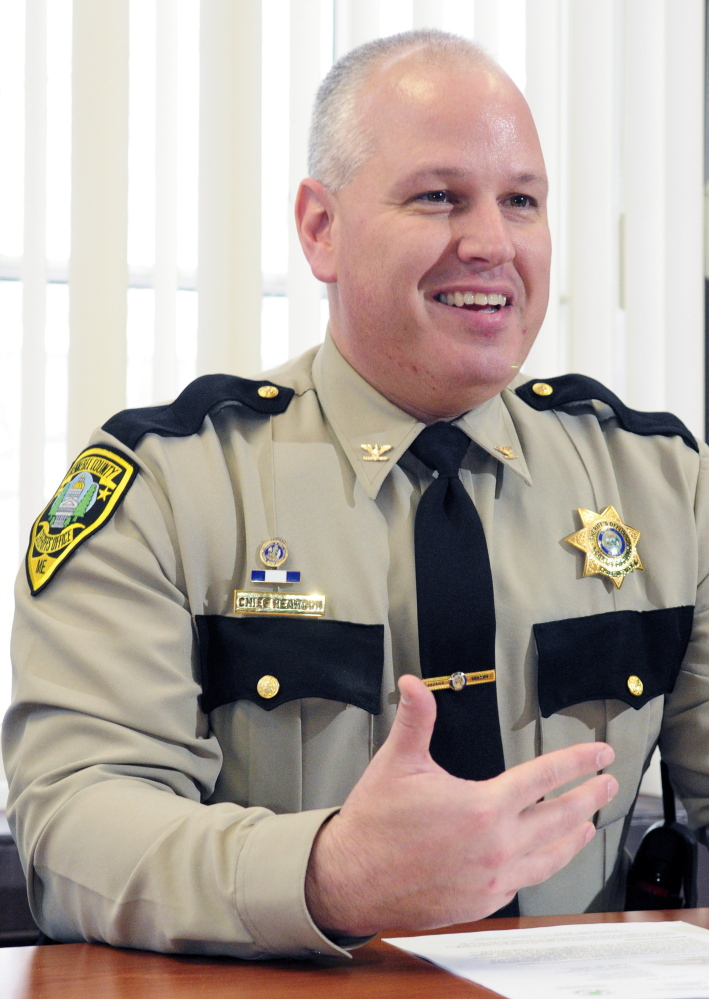 Kennebec County Sheriff's Chief Deputy Ryan Reardon during an interview last year at the Kennebec County Correctional Facility in Augusta.