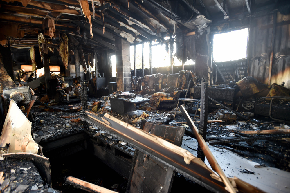 The second floor of David Ladd's home is seen after a fire  destroyed the Bunker Hill Road residence on Thursday morning.