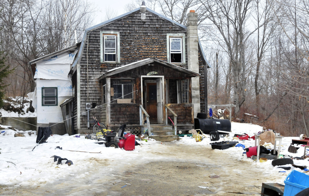 The doors and windows are open at this home at 219 Magrath Road in Wilton on Monday after it was damaged Sunday afternoon in a smokey fire that began in the basement. The home is not inhabitable and the family of five is staying elsewhere.