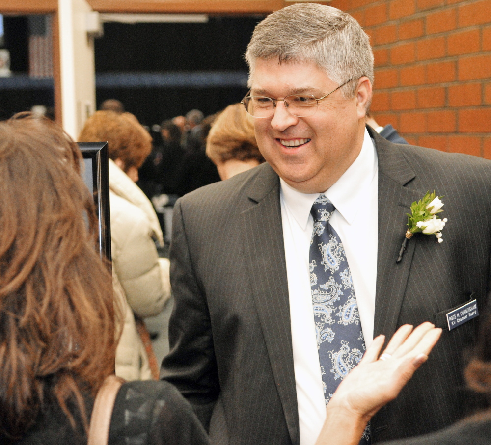 Ross Cunningham, the Kennebec Valley Chamber of Commerce president and CEO, plans some surprises at the chamber's awards banquet on Jan. 22.
