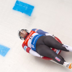 Julia Clukey competes during a World Cup race in Oberhof, Germany last year.
