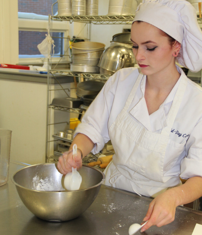 Culinary Arts student Chyanne Bizier competes in her division, she attends Winslow High School.