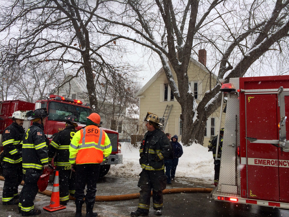 Firefighters from four agencies responded Monday to a report of a second-story fire at 88 Old Point Ave. in Madison.
