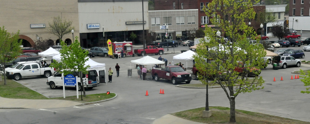In this May 2014 file photo, the area of The Concourse is seen along downtown Main Street where the farmers market sets up every Thursday afternoon from April to November.