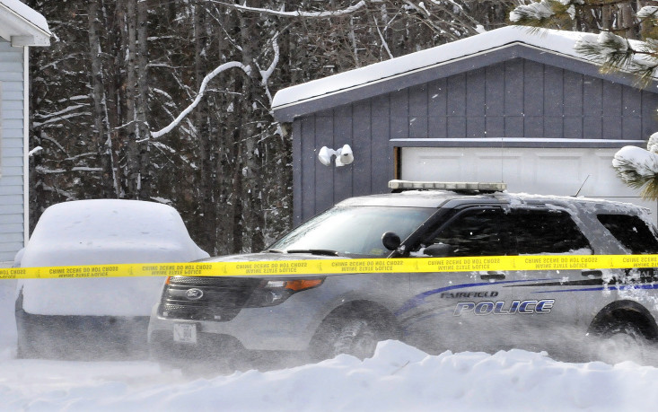 A Fairfield police cruiser is parked in front of the garage at 457 Norridgewock Road Jan. 13, where state police discovered the remains of a baby. Police are still investigating the case.