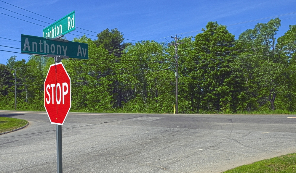 AUGUSTA, ME - MAY 3: This photo taken at the corner of Anthony Avenue and Leighton Road on Tuesday June 3, 2014 shows proposed site for a new fire station in Augusta. (Photo by Joe Phelan/Staff Photographer)