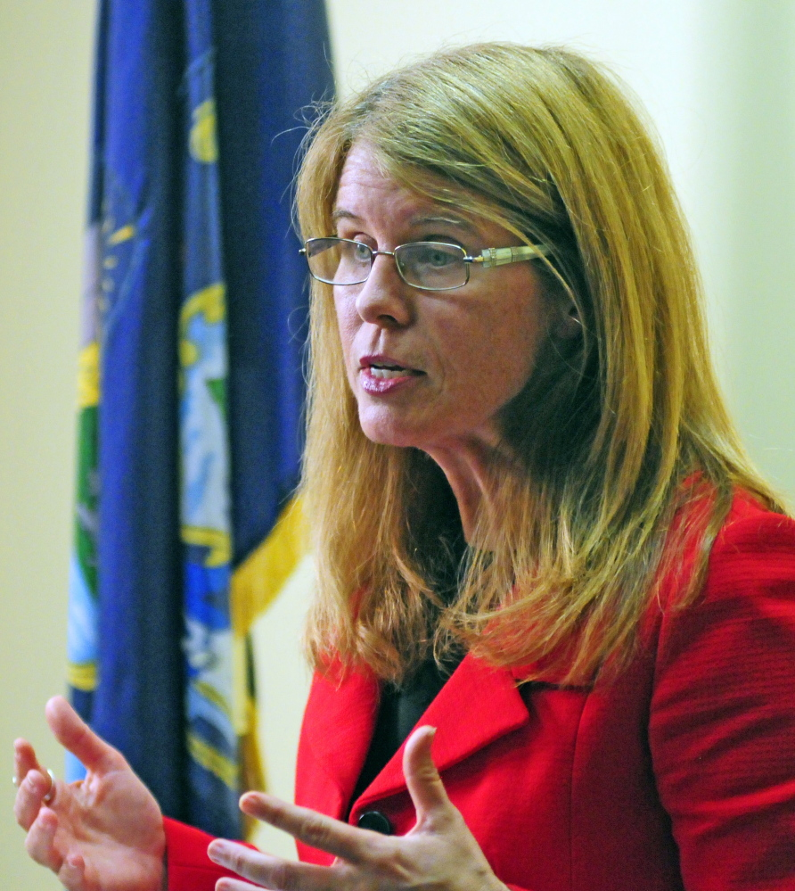 State Health and Human Services Commissioner Mary Mayhew in an October file photo.