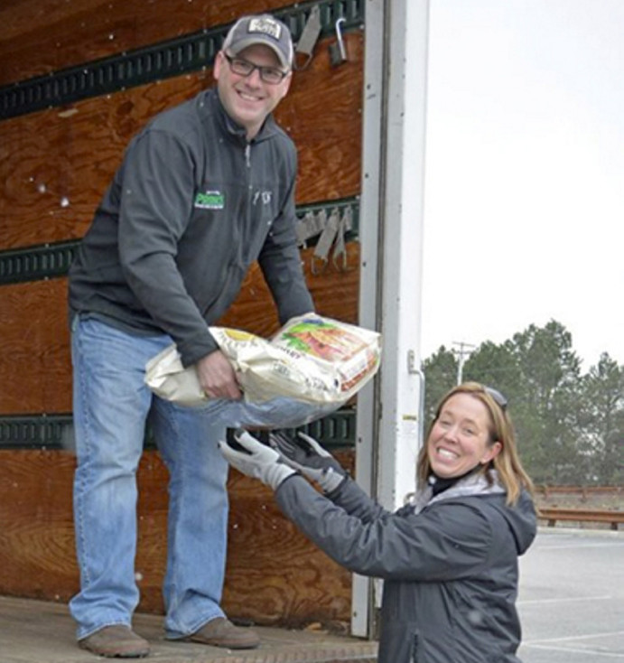 Patrick Lowe, left, owner of Prince's Furniture and Heidi V. Neal, owner of Loyal Biscuit Co.