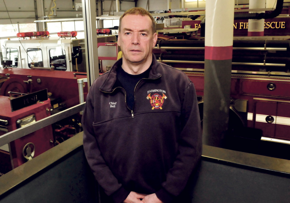 Farmington Fire Chief Terry Bell has urged the town to consider funding four full-time firefighter positions because of a dwindling number of volunteers on the town department.