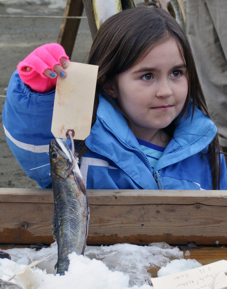 Brooke Lee at a previous ice fishing derby.