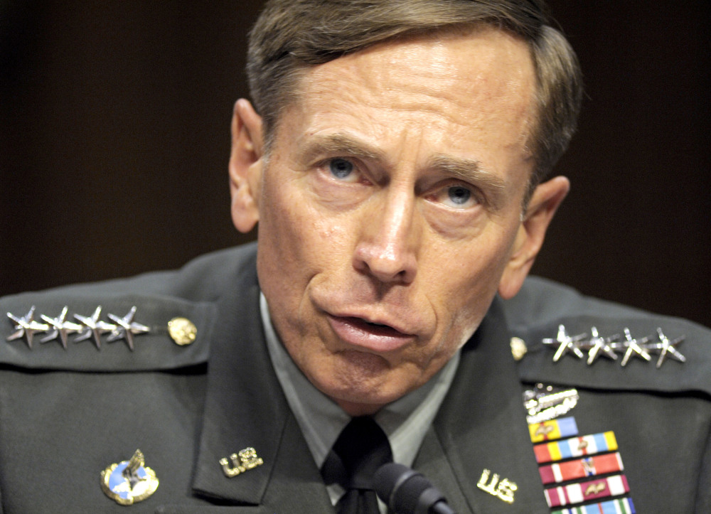 In this June 23, 2011 file photo, then-CIA Director-desigate Gen. David Petraeus testifies on Capitol Hill in Washington.