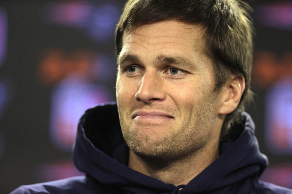 New England Patriots quarterback Tom Brady tells reporters Wednesday that his sprained ankle is on the mend and he expects to play Jan. 16.