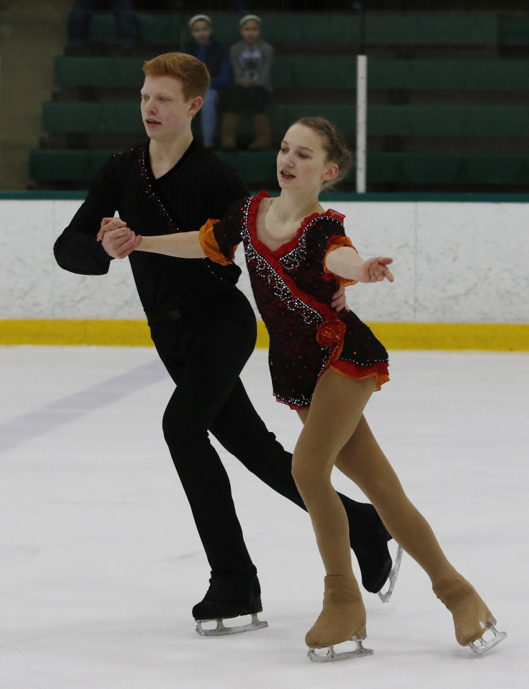 Franz-Peter Jerosch and Julia Curran have been skating together for only 11 months. One reason why they clicked is that Curran, like Jerosch, spins clockwise in her jumps, unlike most skaters.