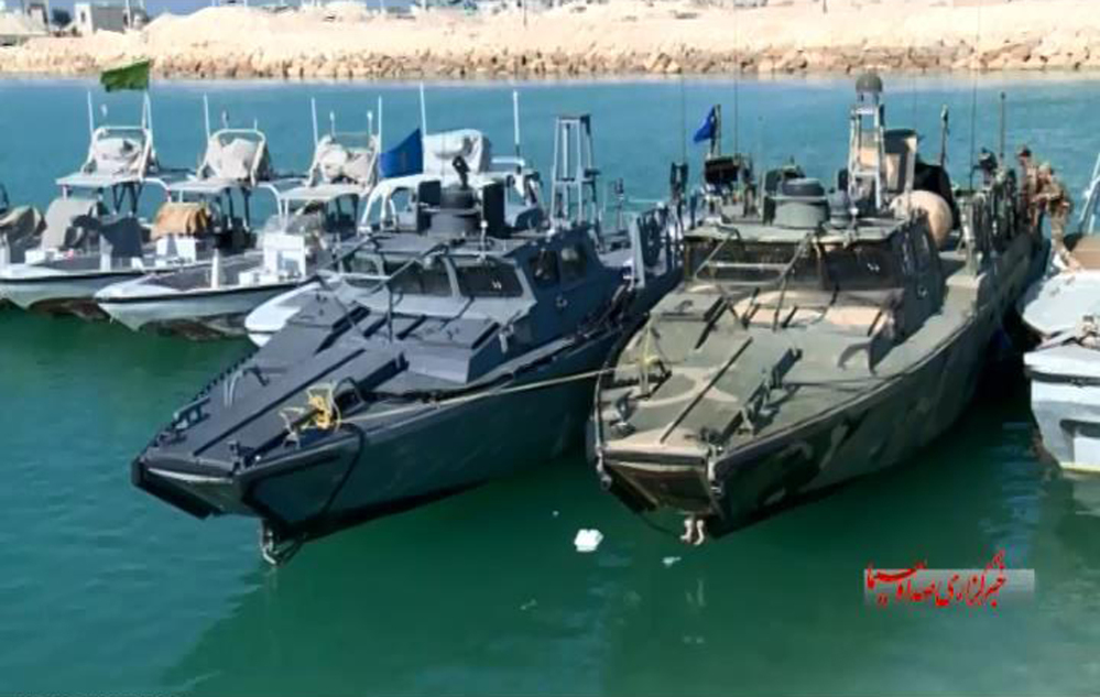This still image taken from video by the Iranian state-run IRIB News Agency on Tuesday shows American Navy boats in custody of the Iranian Revolutionary Guards in the Persian Gulf, Iran.