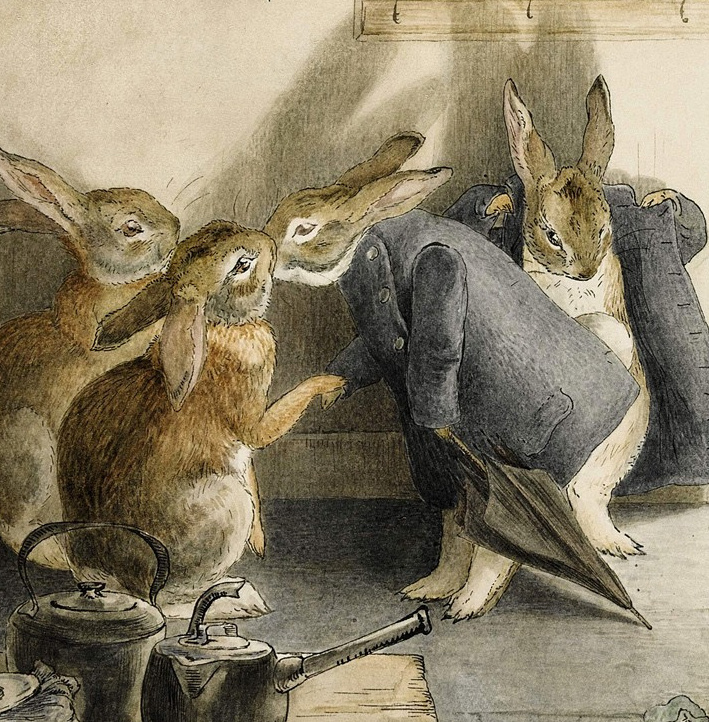 """""""The Tale of Kitty-In-Boots"""" by Beatrix Potter will feature an older version of Peter Rabbit, her best-known creation. The story will be published this year, the 150th anniversary of the author's birth."""