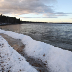 At the Standish Town Landing on Wednesday, there was still open water on Sebago Lake. Organizers of the Sebago ice-fishing derby planned for Feb. 27 and 28 will move it to smaller lakes if there isn't enough ice on Sebago by then.