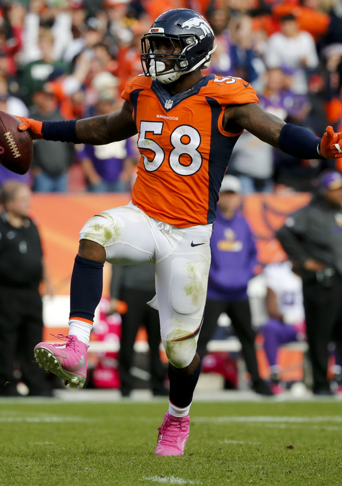 Broncos linebacker Von Miller has  a lot in common with Panthers QB Cam Newton, starting with their draft class, so it's fitting that their head-to-head battle will be key in the Super Bowl. The Associated Press