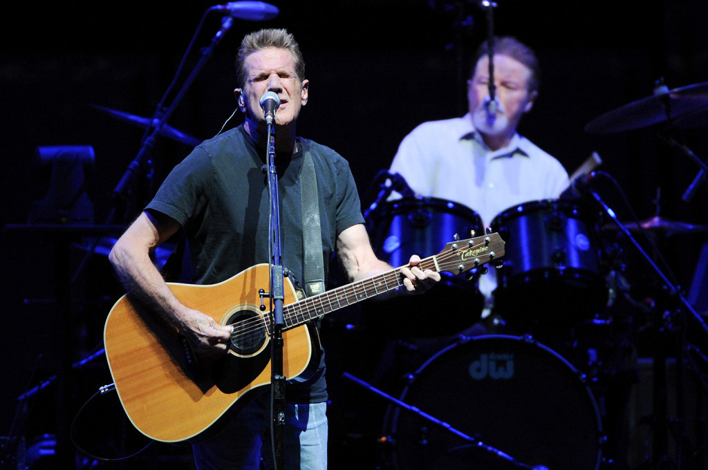 Glenn Frey and Don Henley perform at Madison Square Garden in New York in 2013. Frey and Henley were estranged for years, but reunited as the Eagles in 1994. File photo by Evan Agostini/Invision/AP
