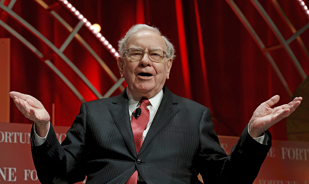 Warren Buffett, chairman and CEO of Berkshire Hathaway, speaks at the Fortune's Most Powerful Women's Summit in Washington in this Oct.  13, 2015, photo. Reuters