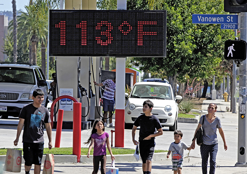 A  thermometer reading 113 degrees Fahrenheit in the Canoga Park section of Los Angeles. The National Oceanic Atmospheric Administration (NOAA) and NASA announced Wednesday, Jan. 20, 2016, that 2015 was by far the hottest year in 136 years of record keeping. The Associated Press
