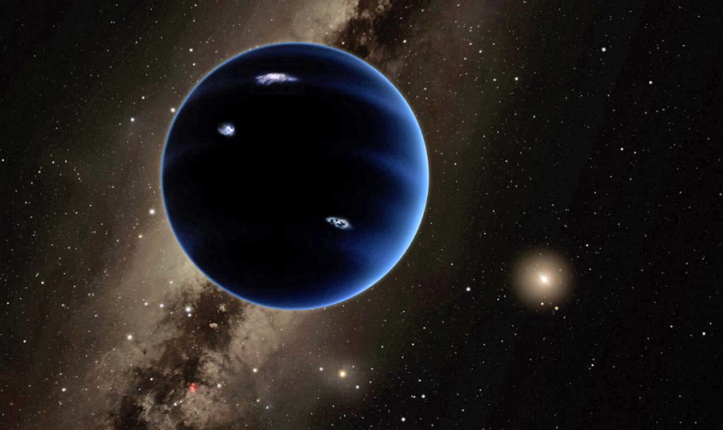 An artist's impression of Planet Nine, which could sit at the edge of our solar system.  R. Hurt/California Institute of Technology via AP